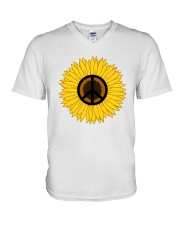 PEACE FOLWER V-Neck T-Shirt tile