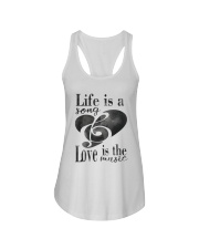 LIFE IS A SONG LOVE IS A MUSIC Ladies Flowy Tank thumbnail