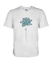 YG-D-11031922-Namaste Yoga V-Neck T-Shirt thumbnail