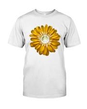 FLOWER PEACE Premium Fit Mens Tee front