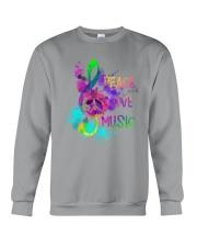 PEACE LOVE MUSIC Crewneck Sweatshirt thumbnail