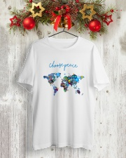 WORLD PEACE Classic T-Shirt lifestyle-holiday-crewneck-front-2