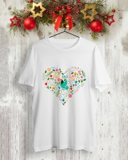 Peace And Love Classic T-Shirt lifestyle-holiday-crewneck-front-2