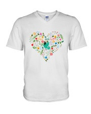 Peace And Love V-Neck T-Shirt thumbnail
