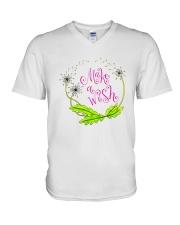 MAKE A WISH V-Neck T-Shirt thumbnail