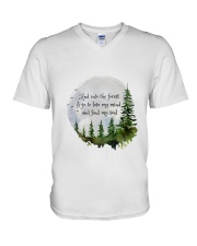 Into The Forest I Go A V-Neck T-Shirt thumbnail