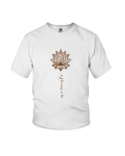 Yoga Mandala Style Youth T-Shirt thumbnail