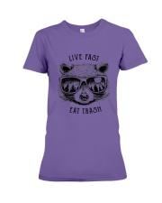 CP-D-0503193-Life Fast Eat Trash Premium Fit Ladies Tee thumbnail