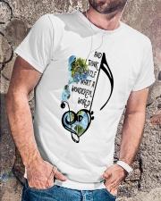 What A Wonderful World  Classic T-Shirt lifestyle-mens-crewneck-front-4