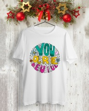 YOU ARE BEAUTIFUL Classic T-Shirt lifestyle-holiday-crewneck-front-2
