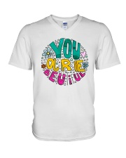 YOU ARE BEAUTIFUL V-Neck T-Shirt tile
