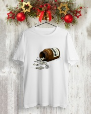 PEACE LOVE MUSIC DRUG Classic T-Shirt lifestyle-holiday-crewneck-front-2