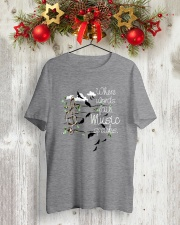 WHERE WORDS FAIL MUSIC SPEAKS Classic T-Shirt lifestyle-holiday-crewneck-front-2