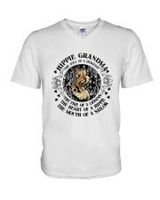 HP-D-27021920-Hippie Grandma 1 V-Neck T-Shirt thumbnail