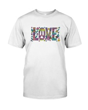 PEACE LOVE Premium Fit Mens Tee front