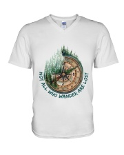 Not all who wander are lost V-Neck T-Shirt thumbnail