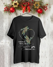 I BELIEVE THERE ARE ANGELS AMONG US Classic T-Shirt lifestyle-holiday-crewneck-front-2