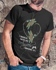 I BELIEVE THERE ARE ANGELS AMONG US Classic T-Shirt lifestyle-mens-crewneck-front-4