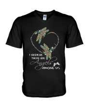 I BELIEVE THERE ARE ANGELS AMONG US V-Neck T-Shirt thumbnail