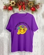 PEACE EMOJI Classic T-Shirt lifestyle-holiday-crewneck-front-2