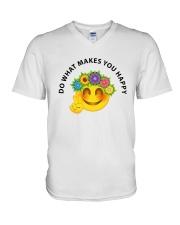 PEACE EMOJI V-Neck T-Shirt thumbnail
