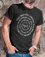You Belong Among The Wildflowers  Classic T-Shirt lifestyle-mens-crewneck-front-4