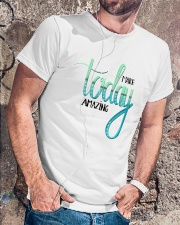 MAKE TODAY AMAZING Classic T-Shirt lifestyle-mens-crewneck-front-4