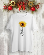Mother Sunflowers Classic T-Shirt lifestyle-holiday-crewneck-front-2