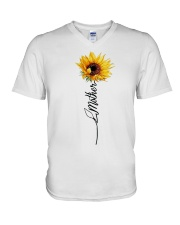 Mother Sunflowers V-Neck T-Shirt thumbnail