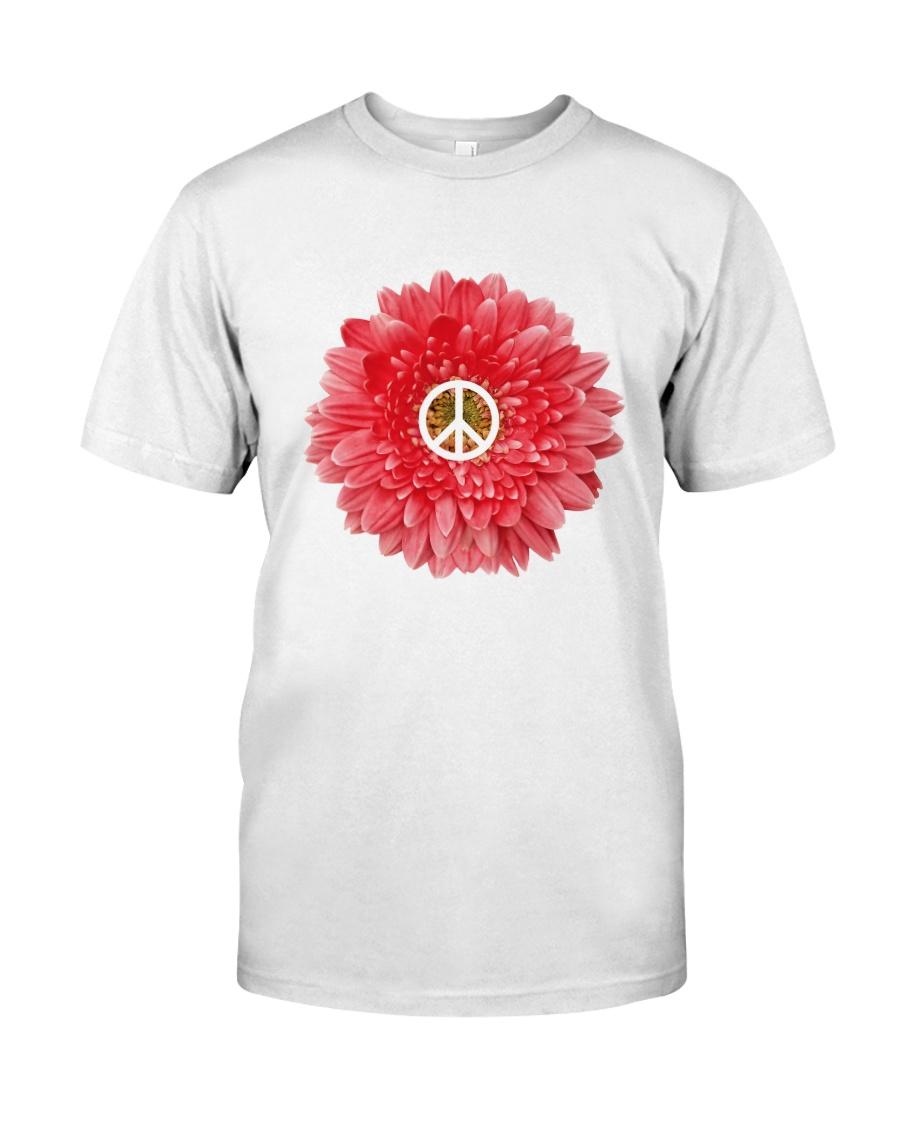 FLOWER PEACE Premium Fit Mens Tee