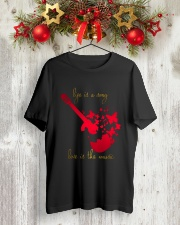 LIFE IS A SONG LOVE IS THE MUSIC Classic T-Shirt lifestyle-holiday-crewneck-front-2