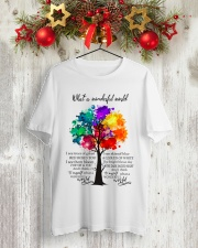 And I think to myself what a wonderful world Classic T-Shirt lifestyle-holiday-crewneck-front-2
