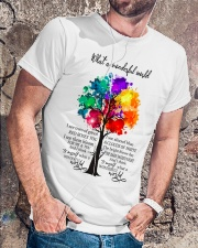 And I think to myself what a wonderful world Classic T-Shirt lifestyle-mens-crewneck-front-4