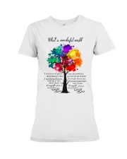 And I think to myself what a wonderful world Premium Fit Ladies Tee thumbnail