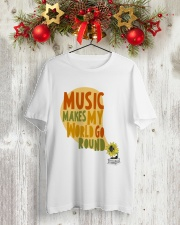 MUSIC MAKE MY WORLD GO ROUND Classic T-Shirt lifestyle-holiday-crewneck-front-2