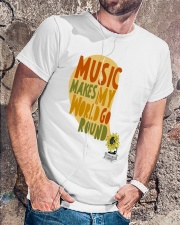 MUSIC MAKE MY WORLD GO ROUND Classic T-Shirt lifestyle-mens-crewneck-front-4