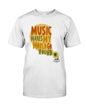 MUSIC MAKE MY WORLD GO ROUND Premium Fit Mens Tee tile