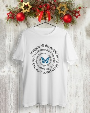 IMAGINE ALL THE PEOPLE  LIVING LIFE IN PEACE Classic T-Shirt lifestyle-holiday-crewneck-front-2