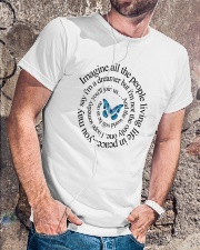 IMAGINE ALL THE PEOPLE  LIVING LIFE IN PEACE Classic T-Shirt lifestyle-mens-crewneck-front-4