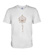Yoga Mandala V-Neck T-Shirt thumbnail
