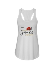 DON'T FORGET TO SMILE EVERYDAY Ladies Flowy Tank thumbnail