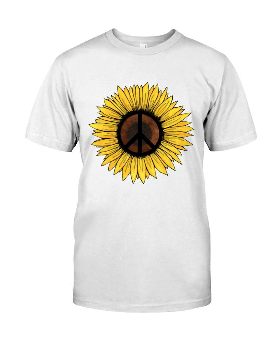 PEACE SUNFLOWER 1 Classic T-Shirt