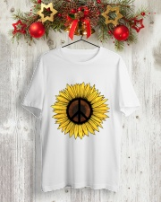PEACE SUNFLOWER 1 Classic T-Shirt lifestyle-holiday-crewneck-front-2