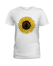 PEACE SUNFLOWER 1 Ladies T-Shirt thumbnail
