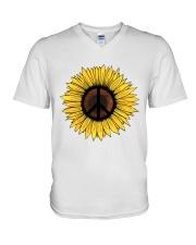 PEACE SUNFLOWER 1 V-Neck T-Shirt thumbnail