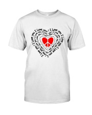 PEACE SIGN HEART Classic T-Shirt front