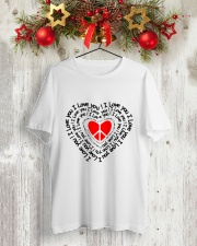 PEACE SIGN HEART Classic T-Shirt lifestyle-holiday-crewneck-front-2