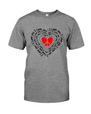 PEACE SIGN HEART Premium Fit Mens Tee thumbnail