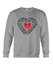 PEACE SIGN HEART Crewneck Sweatshirt thumbnail