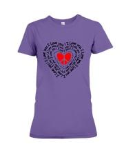PEACE SIGN HEART Premium Fit Ladies Tee thumbnail